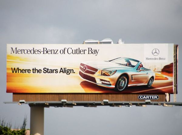 Carter outdoor advertising displays for Mercedes benz of cutler bay